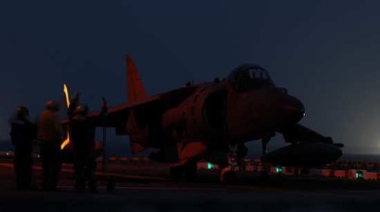 Harrier Night Recovery, Arabian Gulf | Video