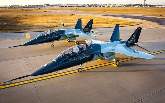 two boeing t-x aircraft