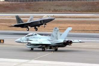 f-22 and ea-18g