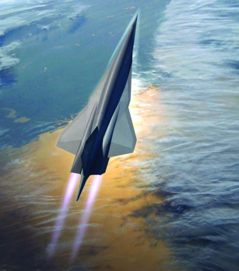 Lockheed Martin Skunk Work's conceptualized SR-72 hypersonic UAV.