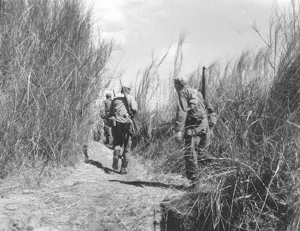 Rangers Advance on Japanese Prison Camp