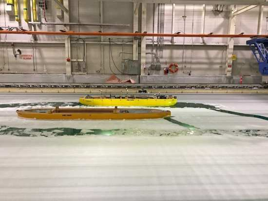 Icebreaker hull-testing