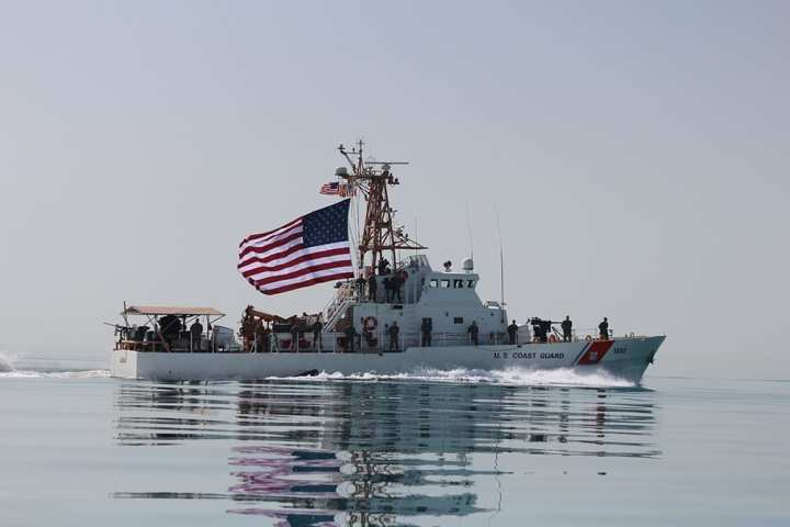 Patforswa serves forward in the arabian gulf defense media network crewmembers aboard the us coast guard cutter uscgc adak wpb 1333 raise the american flag adak is assigned to ctf 55 supporting maritime security publicscrutiny Gallery