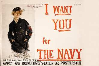 Recruiting poster women in the navy
