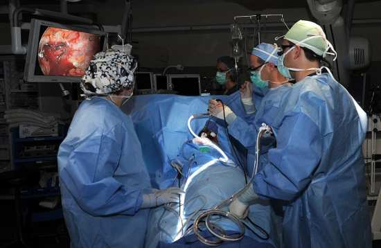 Video-assisted cancer surgery