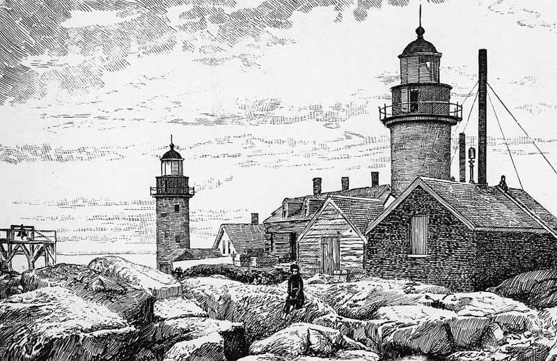 Matinicus Rock lighthouse USCG women
