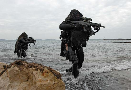 Commando Hubert Rear Adm. Laurent Isnard