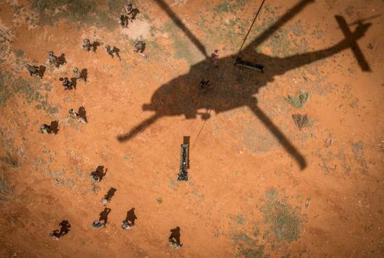 Sea Hawk helicopter Raiders Maj. Gen. Carl E. Mundy III