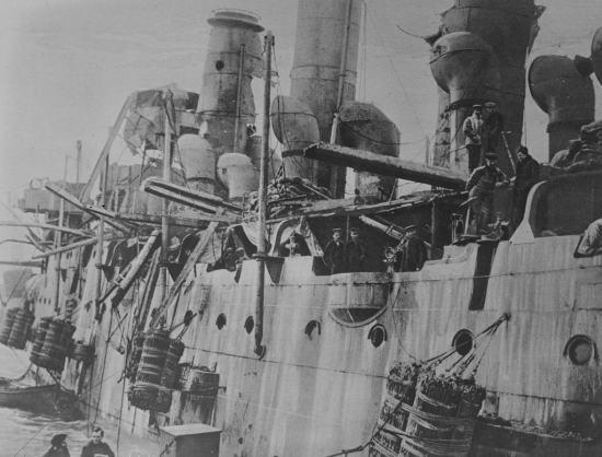 Vindictive-damage-Zeebrugge