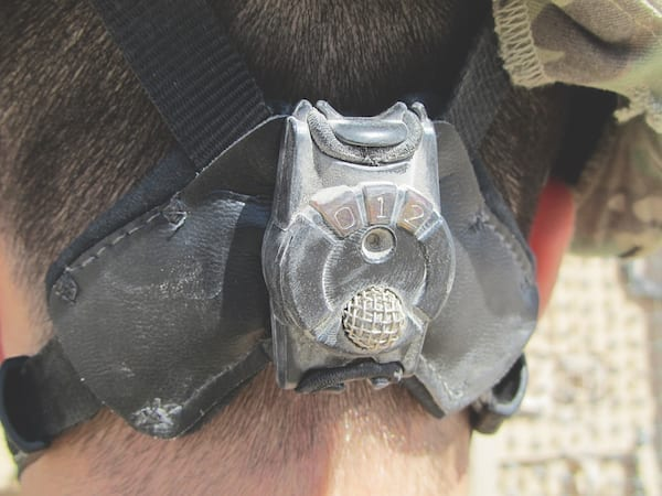 Under a DARPA contract, the Rochester Institute of Technology developed the Blast Gauge, a small device worn by warfighters to measure blast exposure and cue medics for initial response. This phase of the project took just 11 months with a total development cost of approximately $1 million. (DARPA IMAGE)