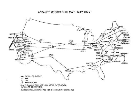 ARPANET map 1977 DARPA web