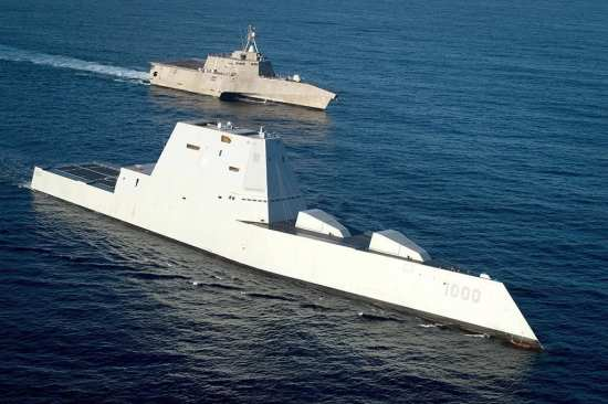 DDG 1000 and LCS 2