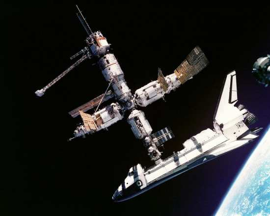 Shuttle and Mir