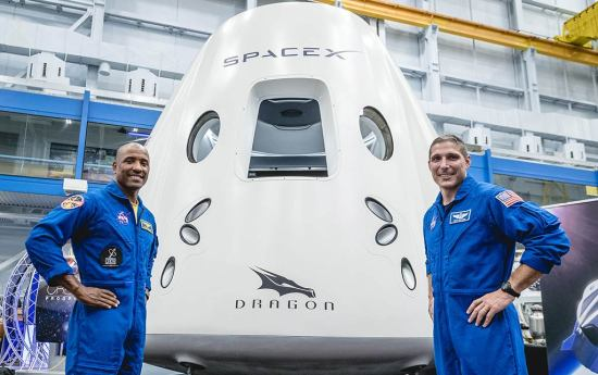 SpaceX Crew Dragon ISS web