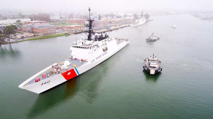 U.S. Coast Guard Cutter Bertholf (WMSL-750), a 418-foot national security cutter, departed Alameda Jan. 20, 2019, for a patrol to the Western Pacific Ocean. Photo Courtesy to U.S. Coast Guard.