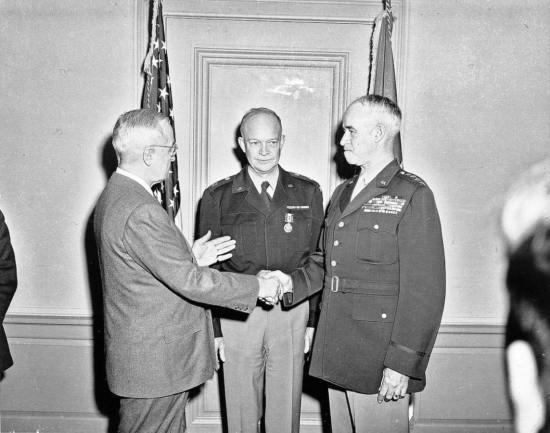 Bradley, Truman, Eisenhower