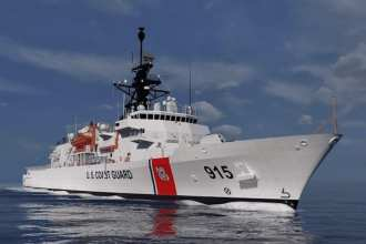 The Coast Guard Offshore Patrol Cutter. Rendering courtesy Eastern Shipbuilding Group.