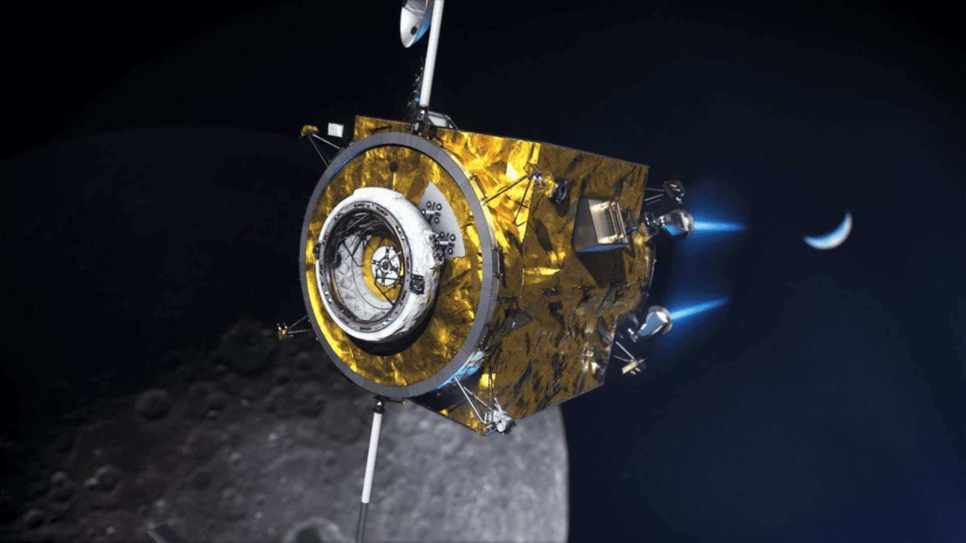 The power and propulsion element of NASA's Gateway is a high-power, 50-kilowatt solar electric propulsion spacecraft – three times more powerful than current capabilities. Credits: NASA