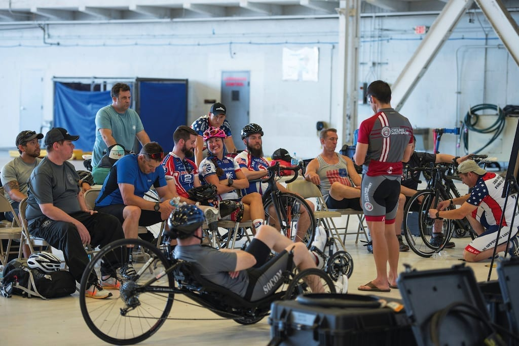Wounded, ill and injured service members participate in a USSOCOM Warrior Games training camp at MacDill Air Force Base in Florida on May 15, 2017.