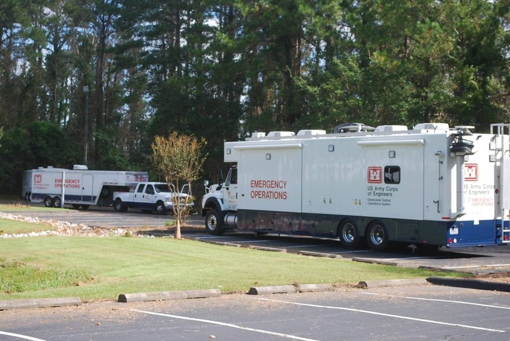 The Deployable Tactical Operations System (DTOS) is a coordination of both teams and equipment put together to provide critical communications in the event of significant man-made or natural disasters. The Emergency Command and Control Vehicles are deployed in two-man teams, the units are self- contained with a workspace for up to 11 users simultaneously.