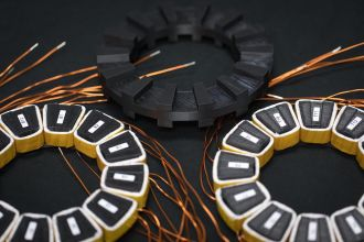 High efficiency, high speed motors: 3-D printed mockup of soft magnetic motor showing rotor and stator design.