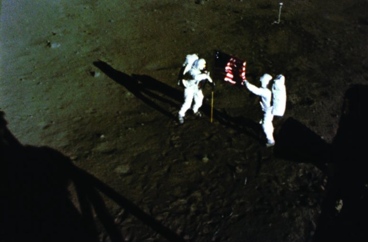 Armstrong and Aldrin on Moon