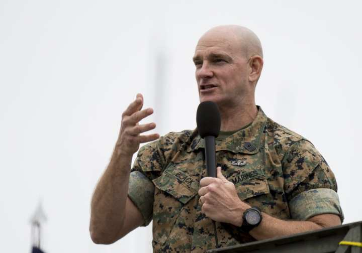 U.S. Marine Corps Sgt. Maj. Troy Black