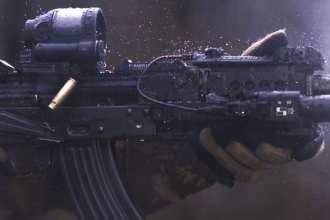 AK-47 firing