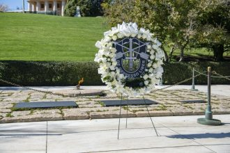 Green Beret Special Forces Honor JFK John F. Kennedy with Wreath