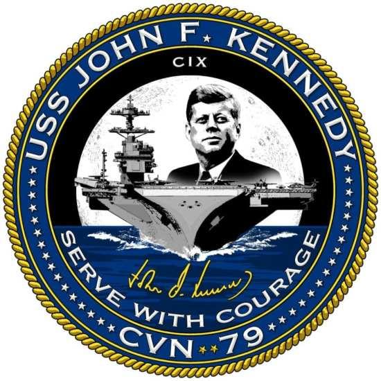 USS John F Kennedy CVN 79 Ships Crest