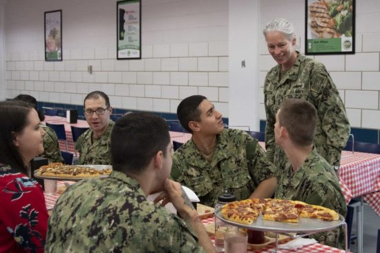 Shore Enterprise Commander Visits Navy's Only Boot Camp
