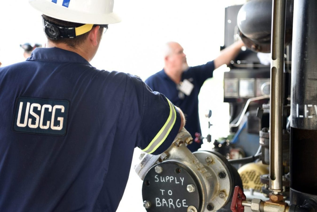 : Coast Guard marine inspectors from units across the country receive hands-on barge training from industry partners in Channelview, Texas, Sept. 10, 2019. Members received training both inside the classroom and while visiting industry experts onsite.
