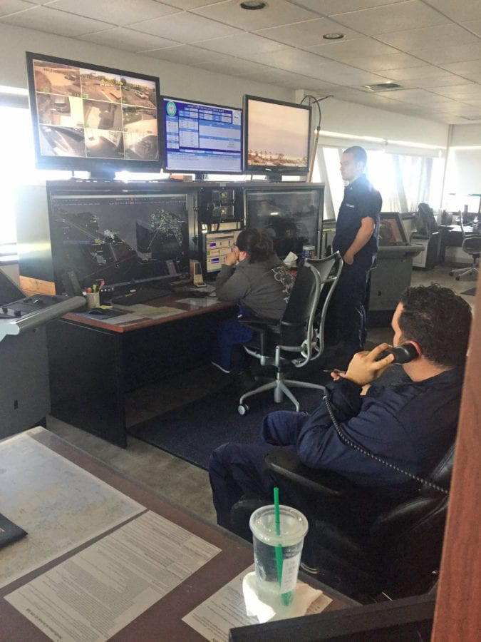 VTS specialists and Coast Guard personnel in the Marine Exchange make sure vessels are moving safely and smoothly.