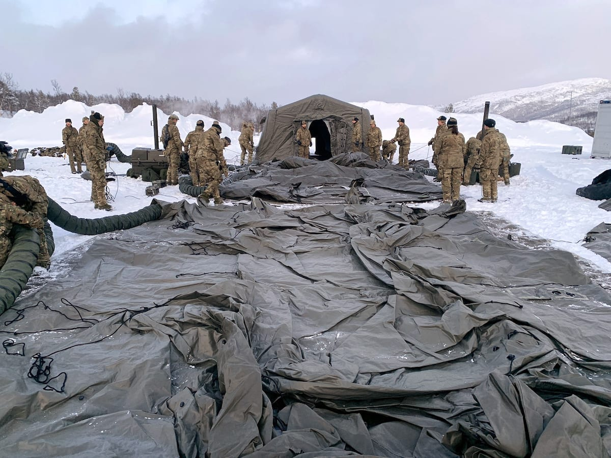 Commando Forward Surgical Group are in the Arctic for the first time in 15 years. Royal Navy image