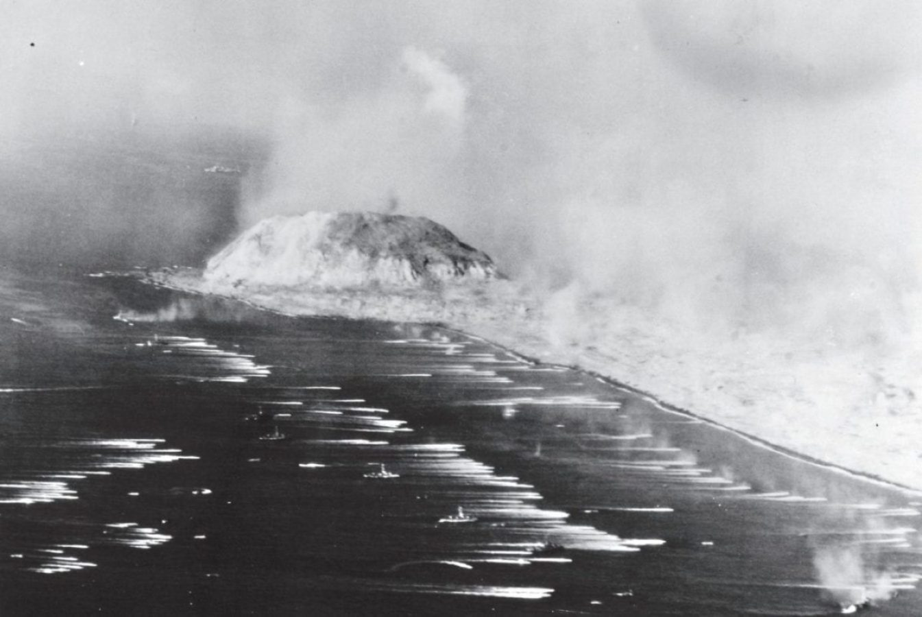 IWO JIMA landing Marines on D-day.