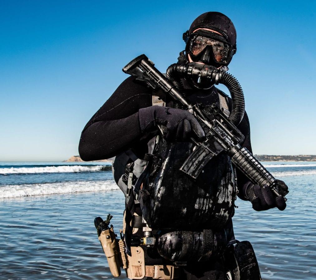 U.S. Naval special operator NSWC