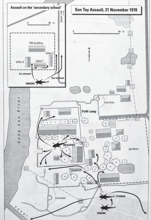 Son Tay Map Vietnam War Special Operations