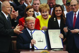 President Donald Trump signed the MISSION Act in 2018. Its provisions – including changes in how veterans access specialty care – went into effect in June 2019.