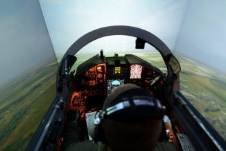 F-22 simulator USAF training