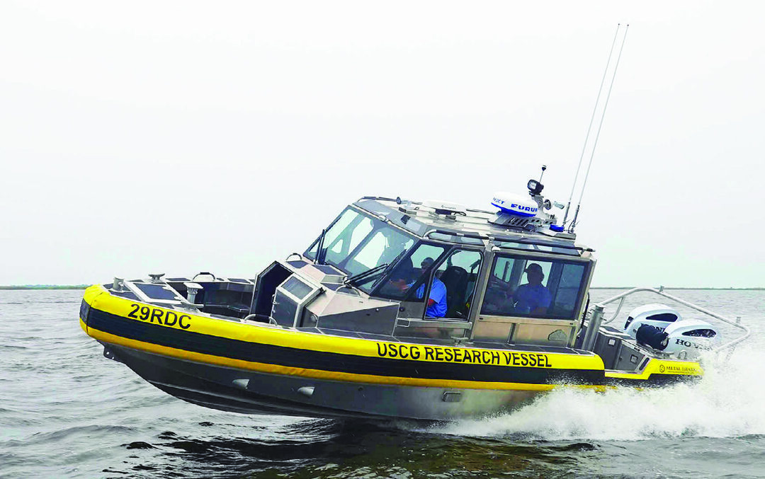 29RDC was purchased by the Coast Guard Research and Development Center to evaluate government-owned and -operated autonomous systems. (Metal Shark Photo)
