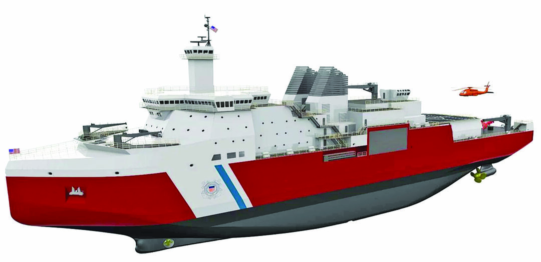 The Coast Guard's new Polar Security Cutters will replace the service's heavy icebreakers, but will be true multimission ships. (VT Halter Marine image)
