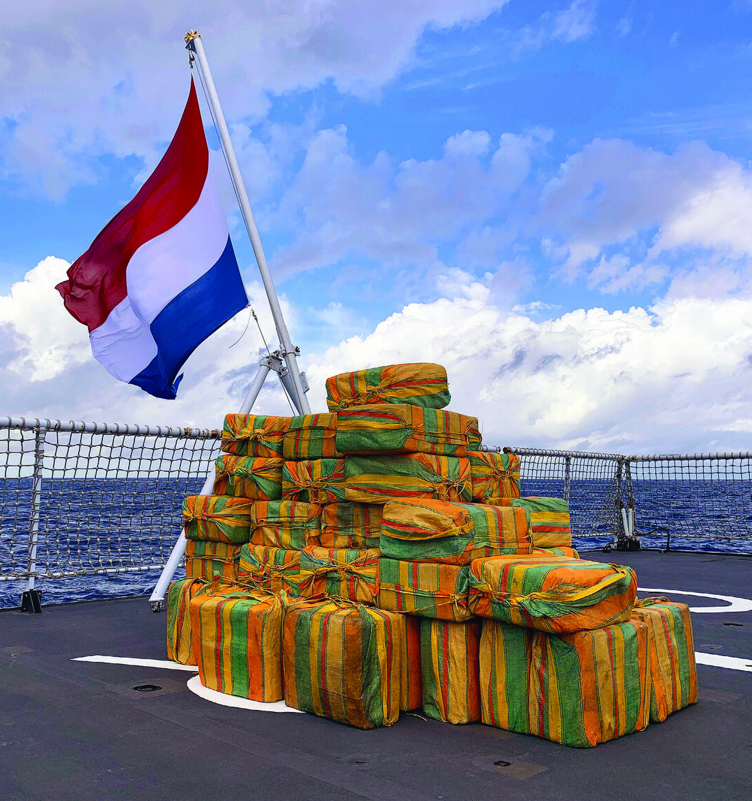 Contraband seized by HNLMS Groningen and an embarked U.S. Coast Guard LEDET during CTG 4.4 operations in the Caribbean.(Royal Netherland Navy photo)