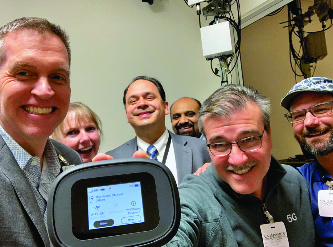 The Palo Alto VA is the first VA hospital, and one of the first hospitals in the world, to become 5G-enabled. (Photo courtesy of the VA Palo Alto Health Care System)