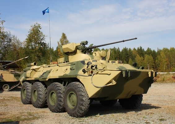 Russian-made BTR-80A Armored Vehicle