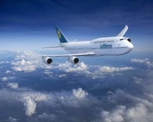 Boeing 747-8 in Lufthansa livery.