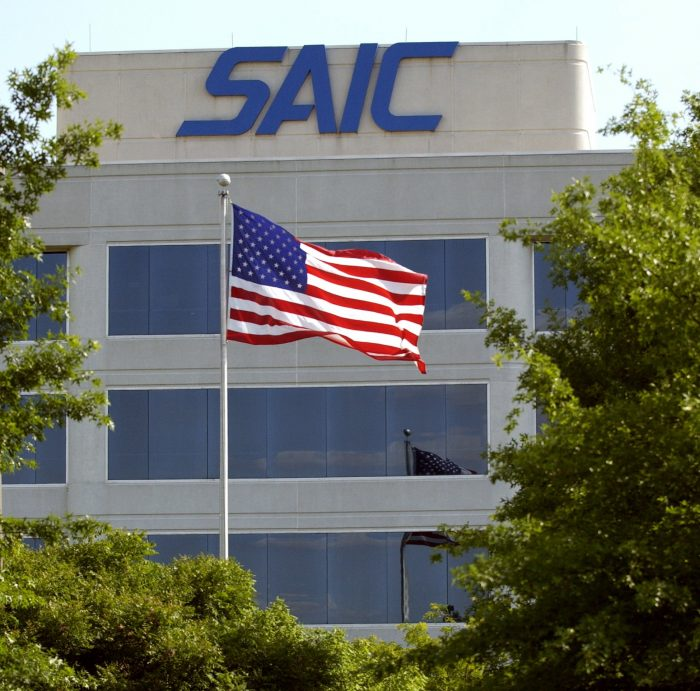 SAIC's headquarters building in Huntsville's Cummings Research Park.
