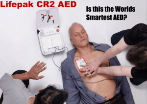 Lifepak CR2 AED feature CPR Insight less breaks in your CPR saves more people