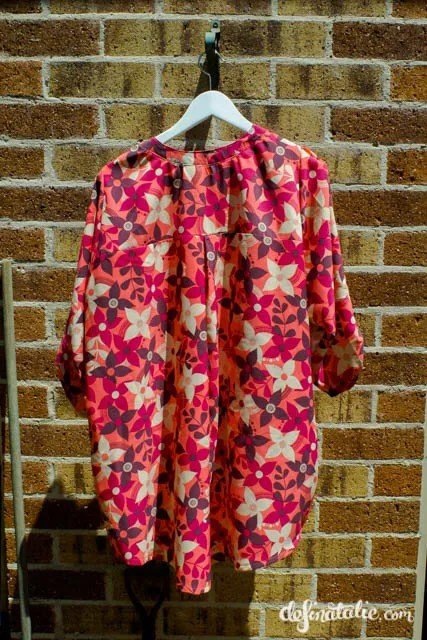 My pink floral polyester Everyday Elegance blouse.