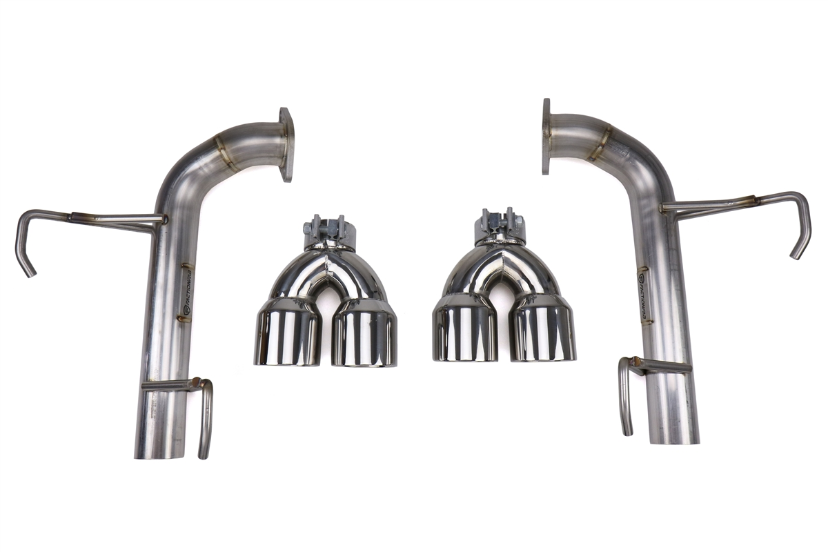 Factionfab Axle Back Exhaust W Polished Tips