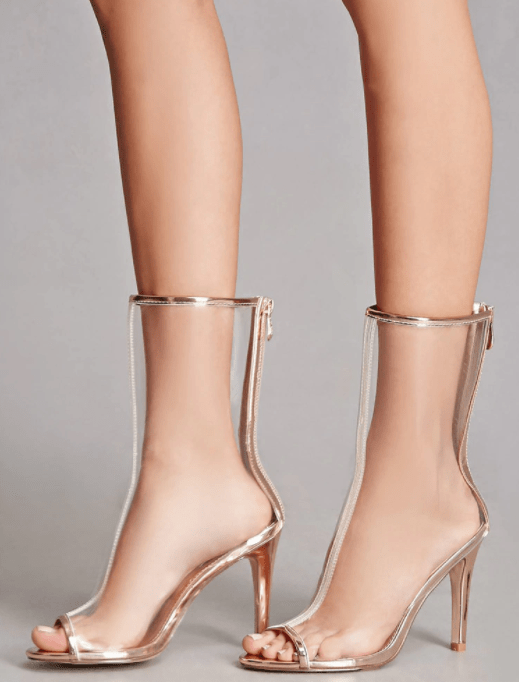 The Look For Less  Yeezy Clear Lucite Heels